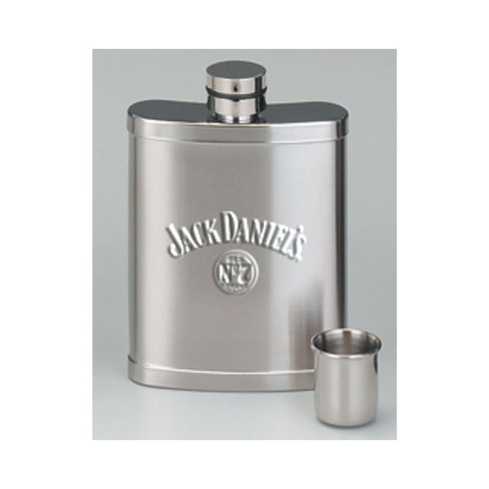 JACK DANIELS 5oz STAINLESS HIPFLASK