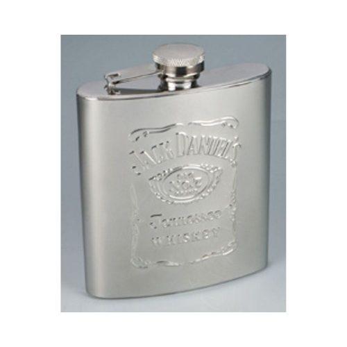 Jack Daniel's Stainless Steel Whiskey Flask
