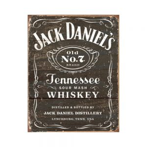 Jack Daniel's – Woodcut Tin Sign