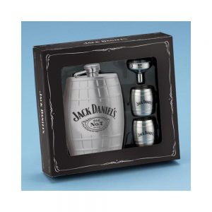 JACK DANIEL'S BARREL FLASK GIFT SET