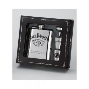 JACK DANIEL'S FLASK/ 2 SHOTS/FUNNEL GIFT SET