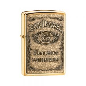 Jack Daniels Label-Brass Emblem