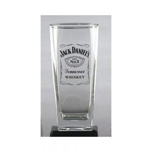 JACK DANIEL'S LABEL LOGO TALL ROCKS GLASS
