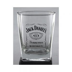 Jack Daniel Label Logo DOF Glass
