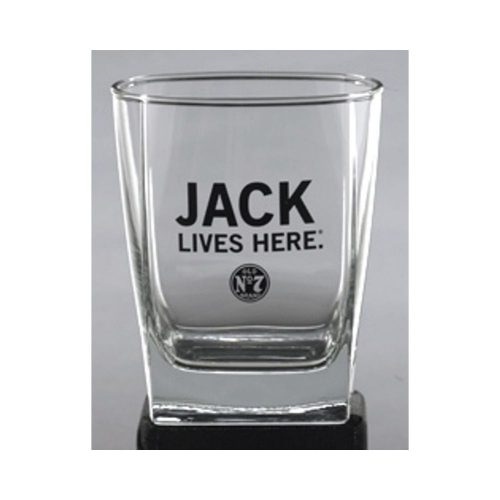 Jack Lives Here Sign Glass