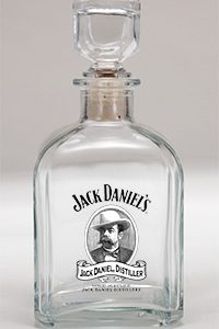 JD Cameo Logo Decanter