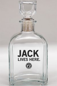 JACK DANIEL'S LIVES HERE DECANTER
