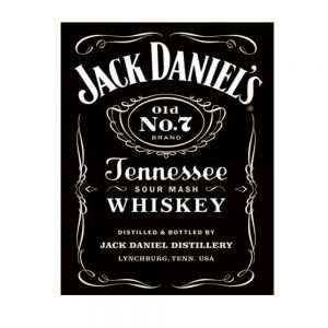 JD Bottle Label Sign