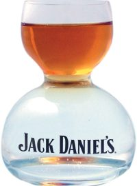 Jack Daniel's Whiskey on Water Glass Large