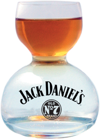 Jack Daniel's Whiskey on Water Glass - Small