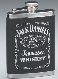 Jack Daniel's Stainless Steel Leatherette Cover Flask
