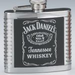 *Jack Daniel's Stainless Steel Ribbed 4 oz. Flask
