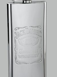 Jack Daniel's Stainless Steel Label Boot Flask
