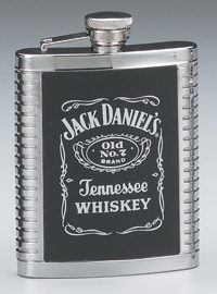 Jack Daniel's Stainless Steel 6 oz. Ribbed Flask