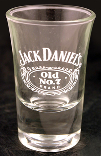JACK DANIEL'S TAPERED SHOT GLASS
