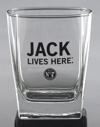 JACK LIVES HERE DOF GLASS
