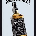 Jack Daniel Bottle Mirror