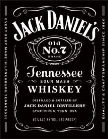 JD Bottle Label Sign