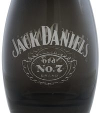 JD Black Barrel Shot Glass