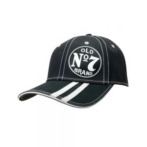 Striped No 7 Brand Hat