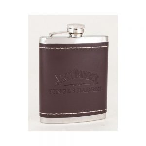 Single Barrel Leather Flask