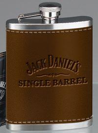 Single Barrel Leather Flask