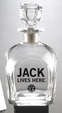 JACK LIVES HERE DECANTER
