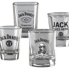Set of 4 Jack Daniel's Shot Glasses