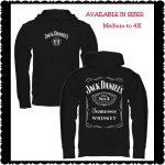 Jack Daniel's Mens Label Hoodie