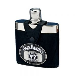 Jack Daniel's Leather/Badge Flask