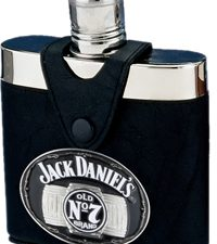 Leather/Badge Flask