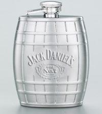 JD Embossed Barrel Flask