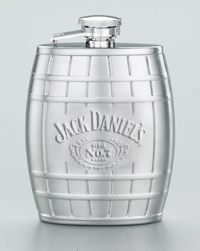 JD Embossed Barrel Flask