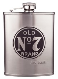 Satin Flask with Large Old No 7 Logo