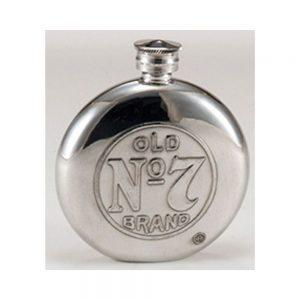 Jack Daniel's Circular Pewter Flask
