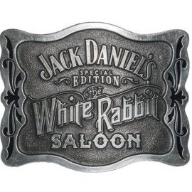 White Rabbit Saloon Buckle