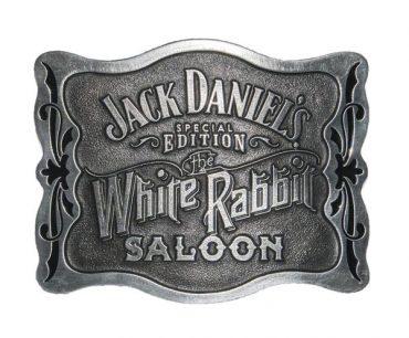 White Rabbit Saloon Buckle