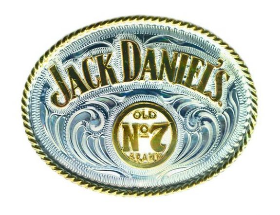 Silver and Gold Oval Buckle