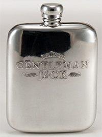 Gentleman Jack Pewter Flask