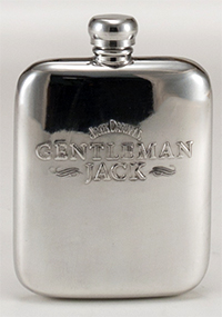 Gentleman Jack Pewter Flask