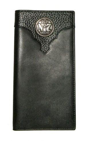 JD Black Rodeo Wallet with Metal Logo