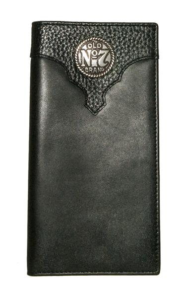 JD Black Rodeo Wallet with Metal Logo