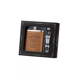Jack Daniel's Leather Flask Gift Set